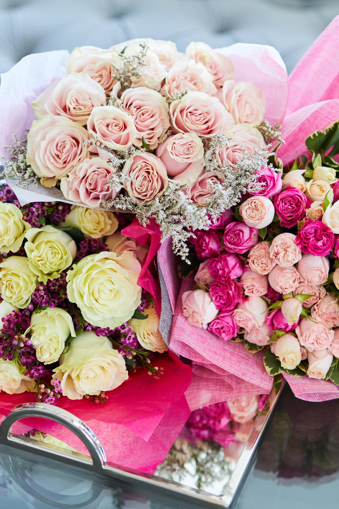 Bouquets of roses -