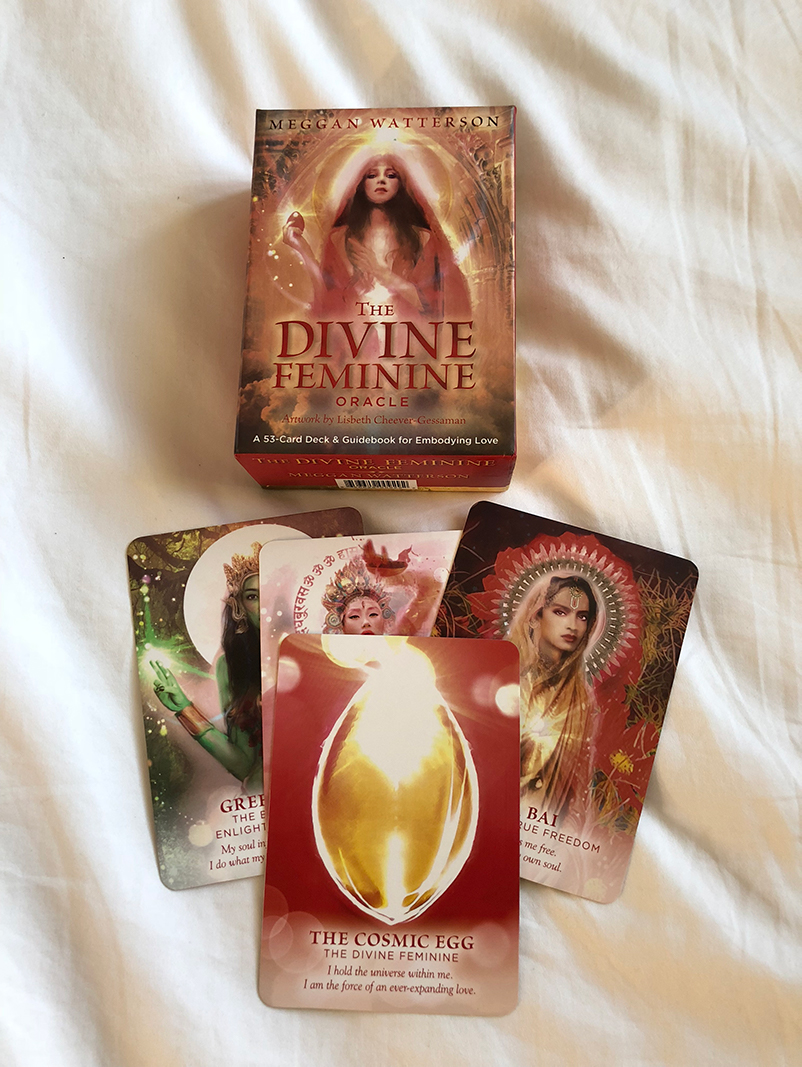 - These amazing cards by Meggan Watterson, will activate the feminine energy in you, liquid prayers and activations in motion. Paired with a detailed information book. Published by HayHouse.