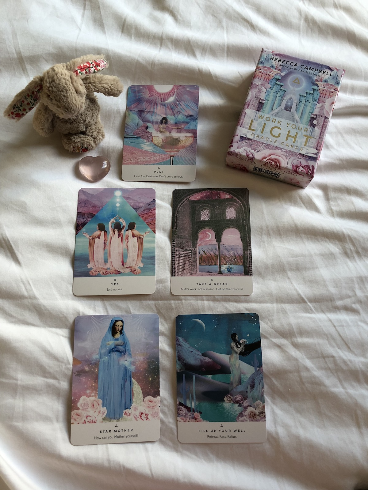 - These magical activating oracle cards by the Hay House author Rebecca Campbell. Not only are they beautiful they help awaken your intuition and connect with yourself. Really wonderful cards to work with.