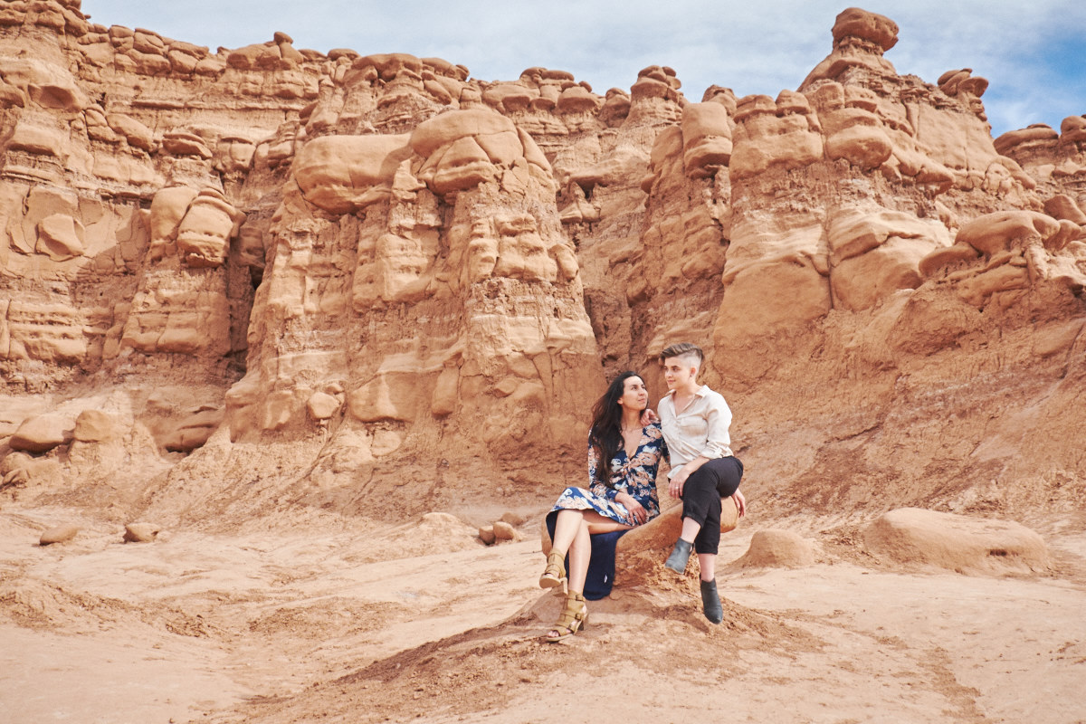 Goblin Valley LGBT Engagement Session - Road Trip Sessions by Yeoto Images Sarah Arnoff Yeoman