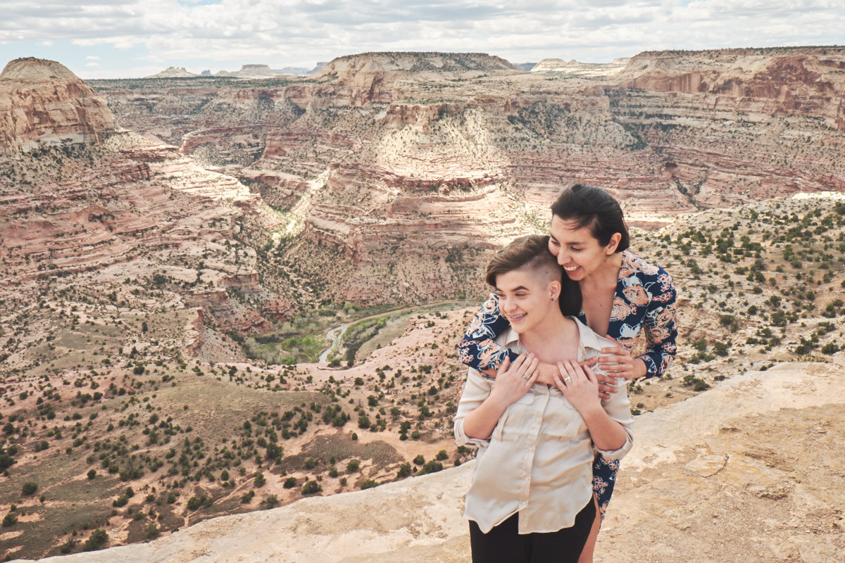 Utah LGBT desert engagement session - Road Trip Sessions by Yeoto Images Sarah Arnoff Yeoman