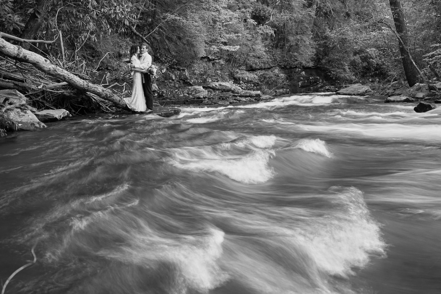 Tennessee forest elopement near river - Intrepid elopements by Yeoto Images Sarah Arnoff Yeoman