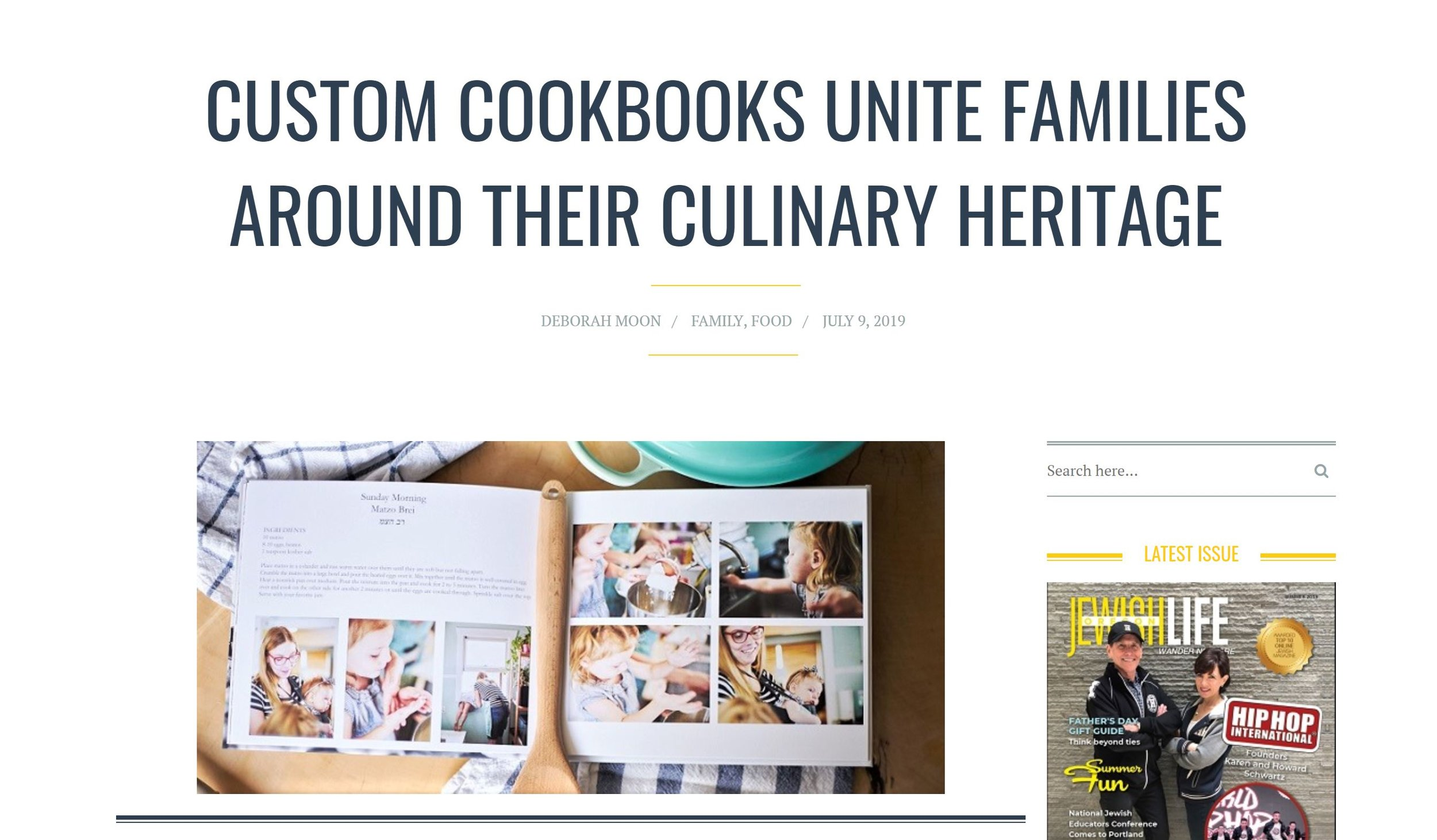 The Family Cookbook Custom Family Cookbooks
