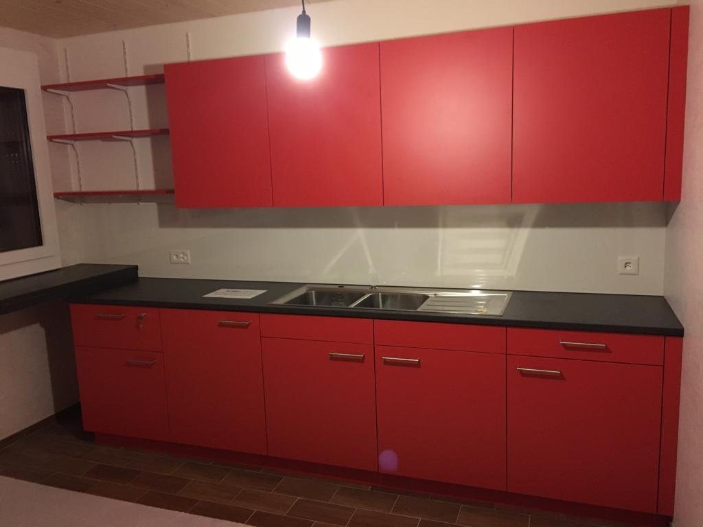Die neue Küche der Kistag wurde fertig eingebaut