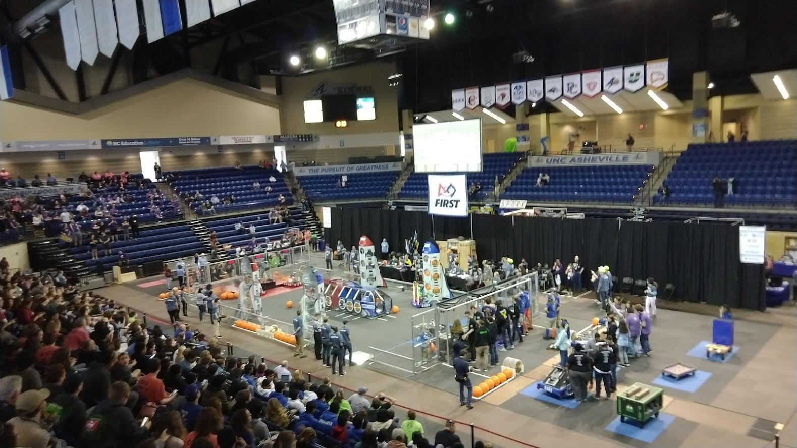 Hosted practice sessions for FIRST Robotics Competition teams, including Girls on Fire, and attended FRC competitions