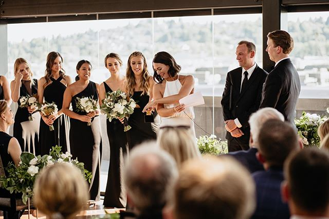 Yes, that's a Dundie! SWIPE   😂😂😂😂😂😂😂😂😂😂😂😂😂😂😂😂😂 __  Team: @olympicrooftoppavilion   @sublimestems   @weddingwise   @integraldjs   @sweetwheels_seattle   @bridalbeautyagency
