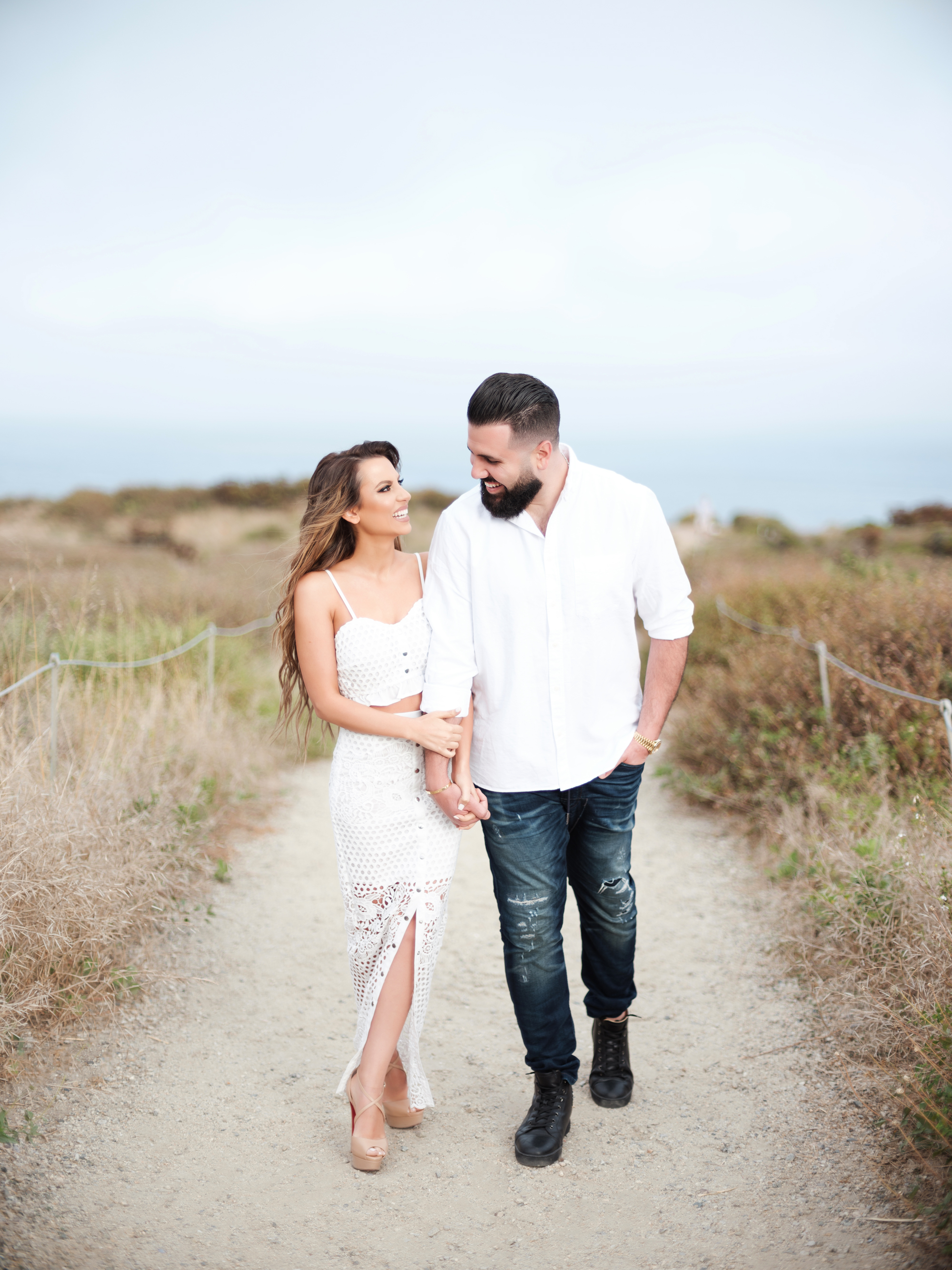 Malibu engagement session in Los Angeles for their wedding