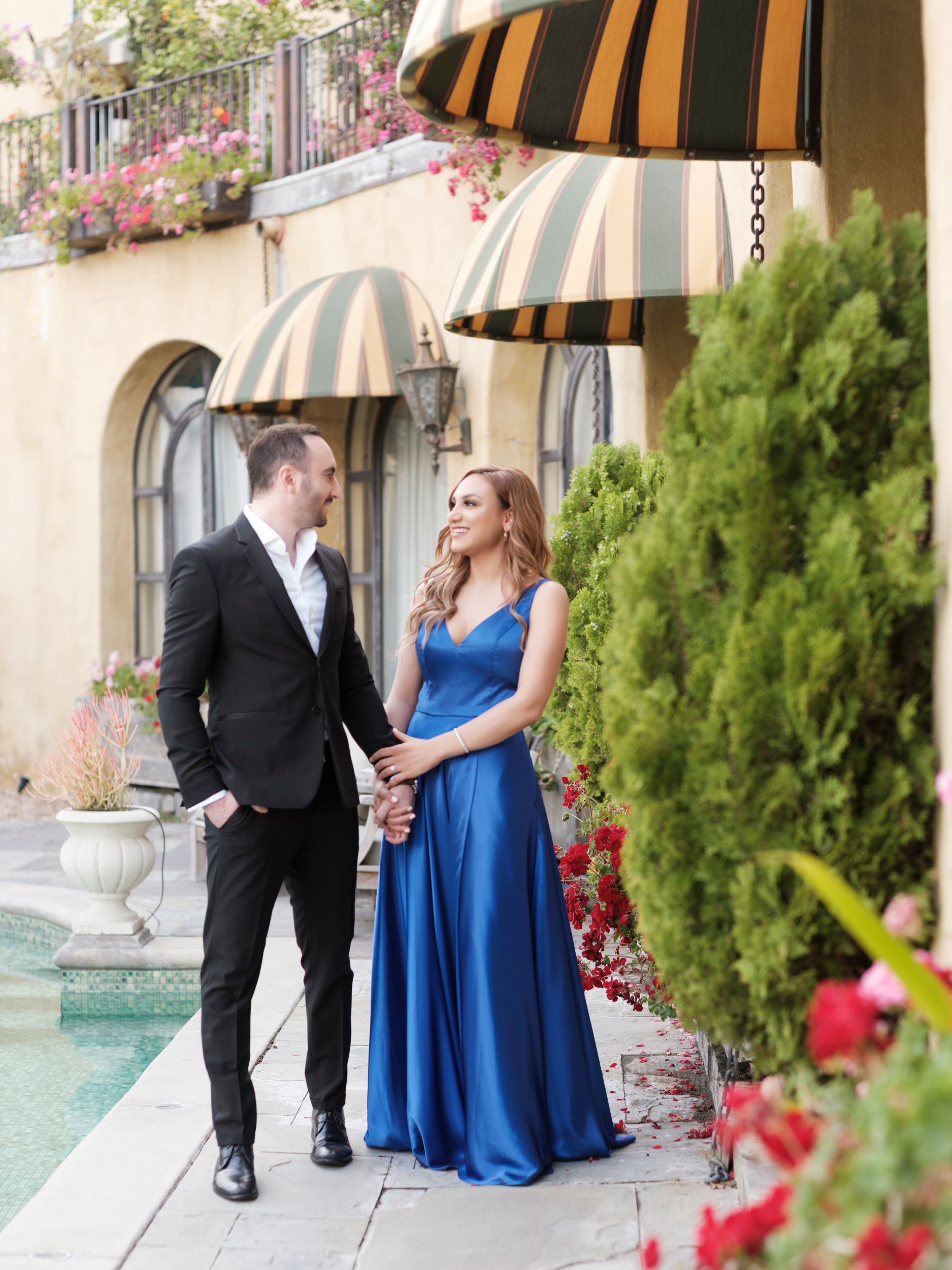 Engaged and in love in Los Angeles. Can't wait for their California Wedding.