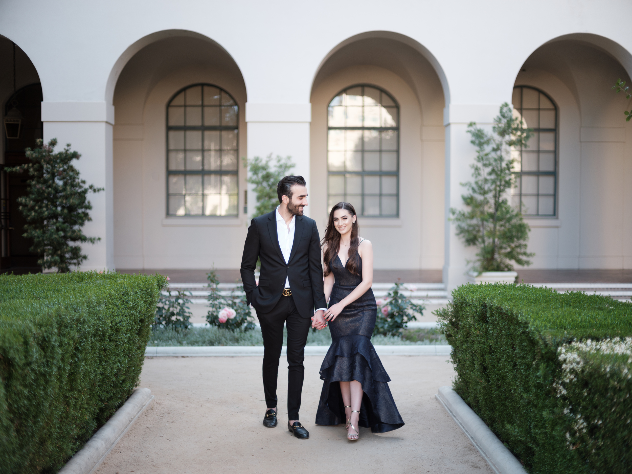 Engaged in Pasadena, first met in Los Angeles for their engagement session. Wedding coming up in California for a summer love.