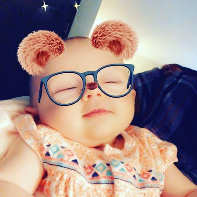 We caught her smilin half asleep. 😍. #genevieve #babysoule19 #babies #babygirl🎀 #baby #snapchat #cute #cuteness #daughter #love.
