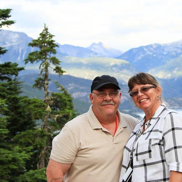 ...with my wonderful wife of over thirty years in Alaska.
