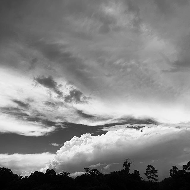 That Texas humidity though... #texas #cloudscapes #blackandwhite #summer #easttexaslife