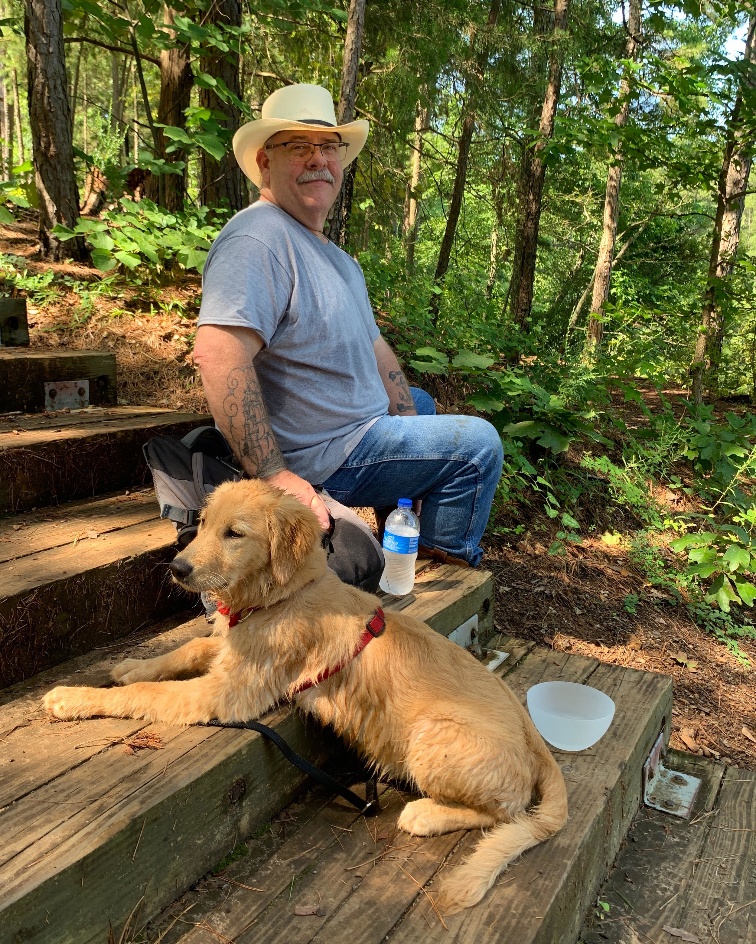 Izzy and me at Tyler State Park
