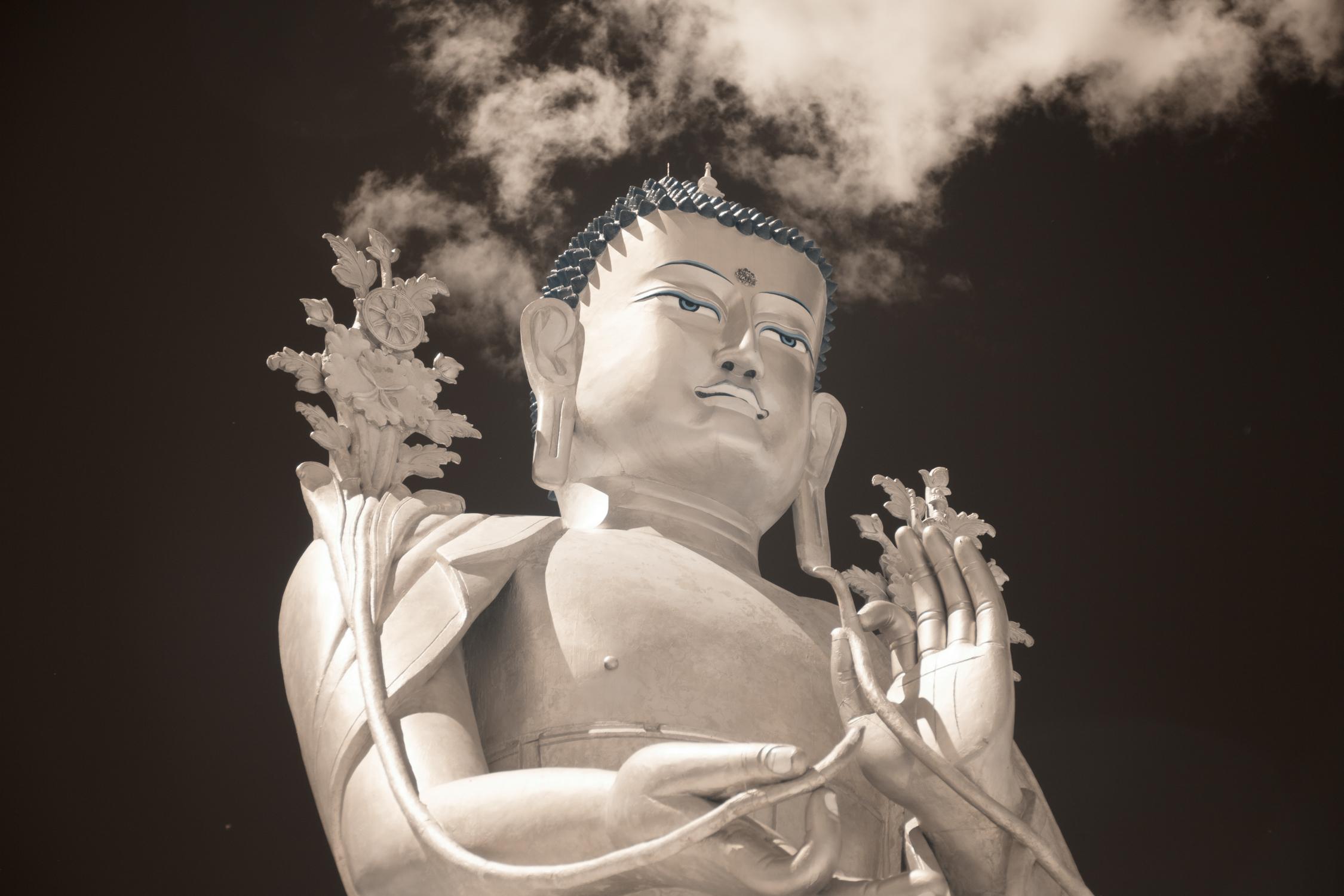 Statue of Maitreya at Lakar Monastery.