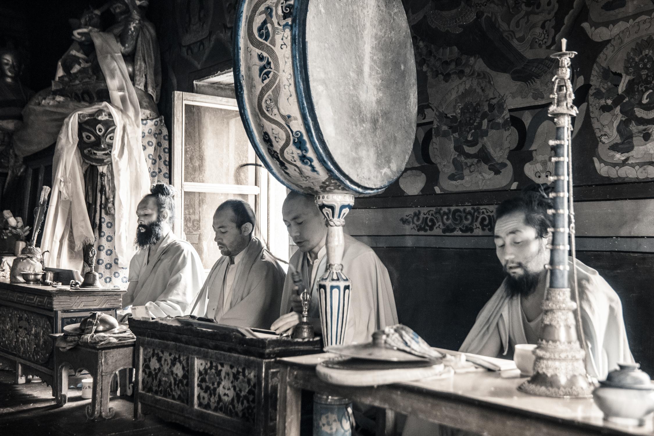 Monks in Lamayuru Monastery.