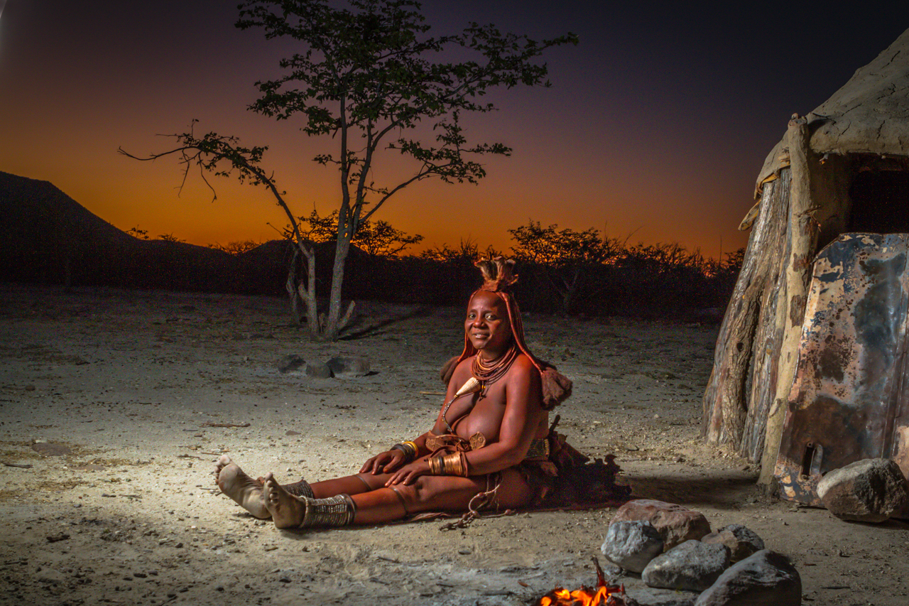 Color It Red -14. Himba woman  by the Firelight_Namibia_TGold.jpg