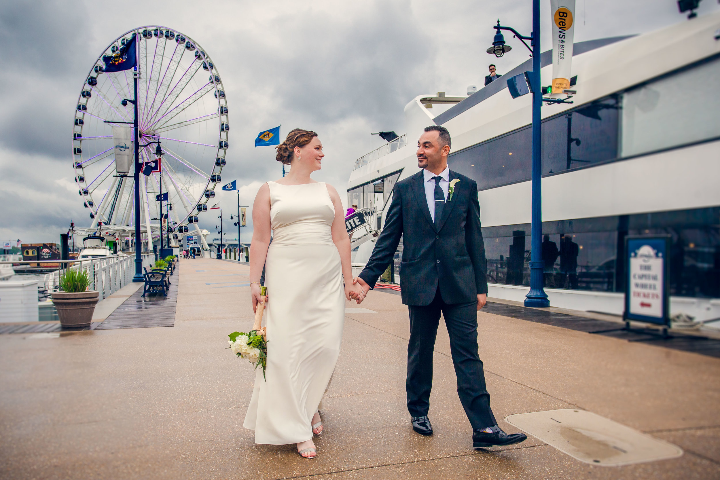 National Harbor Waterfront wedding