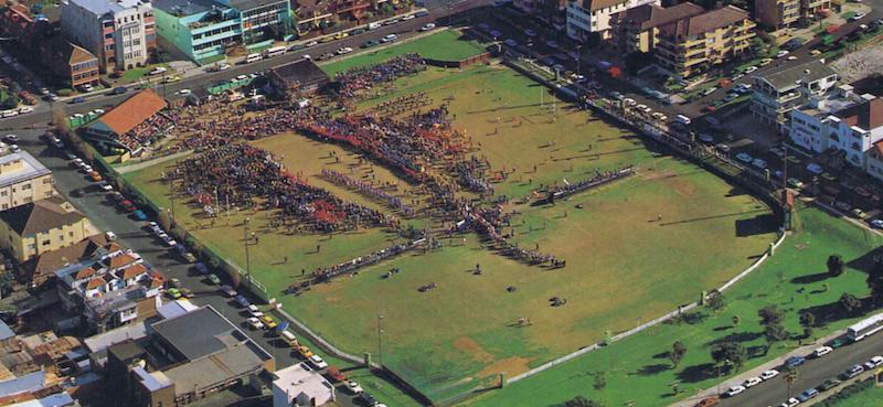 Sydney - Randwick Rugby Ground by air