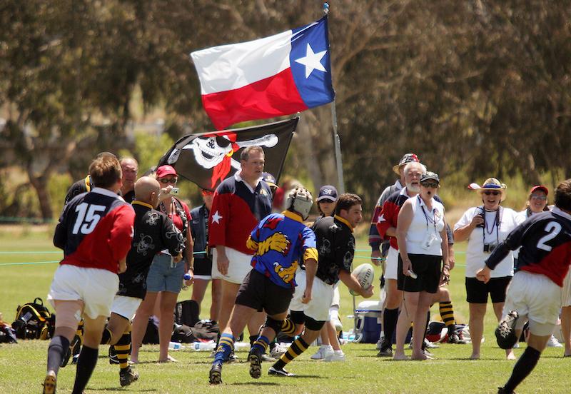 San Diego - Texas flies the flag!