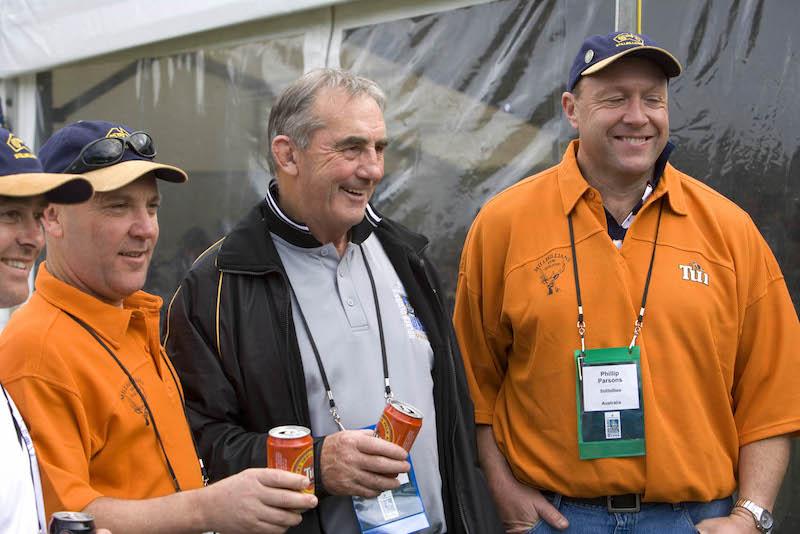 Wellington - ex All Black captain Andy Leslie (centre)