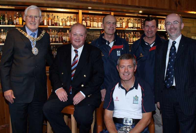 Edinburgh - VIP's including Gavin Hastings (white polo)