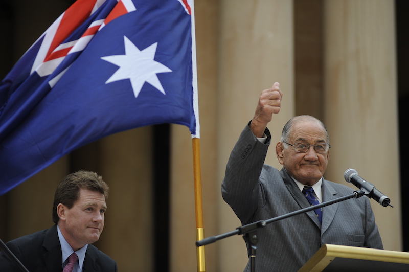Sydney - thumbs up from rugby icon Nicholas Shehadie