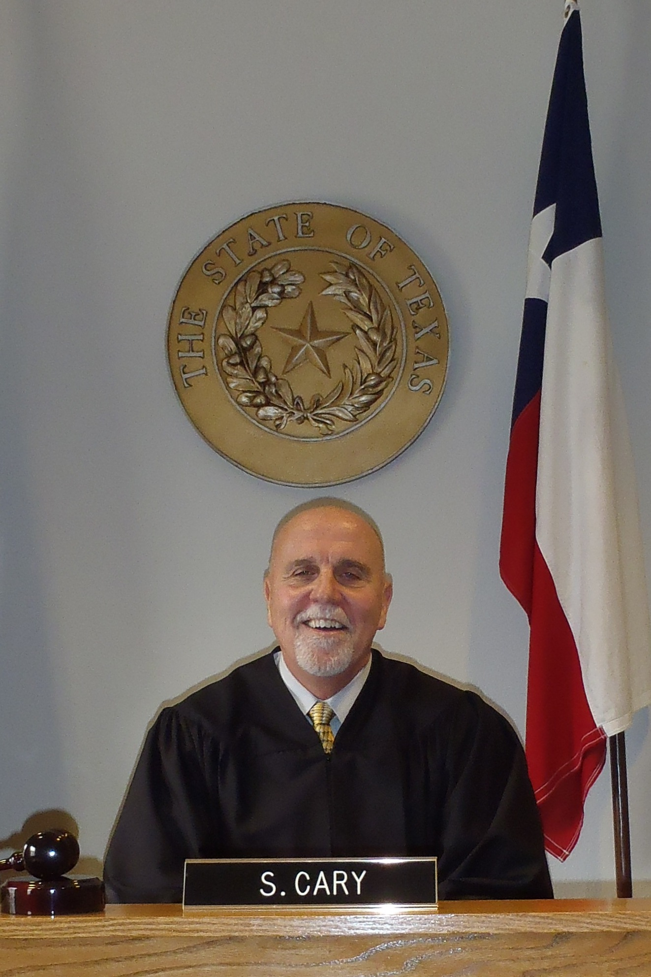 Judge Cary at the bench