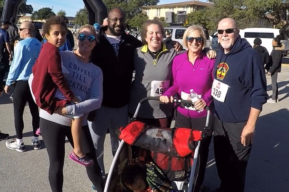 Judge Cary and family at the 2017 Run with the Heroes.