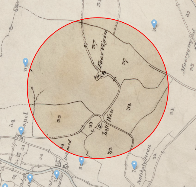 Lofftwen spelling from tithe map 1817.PNG