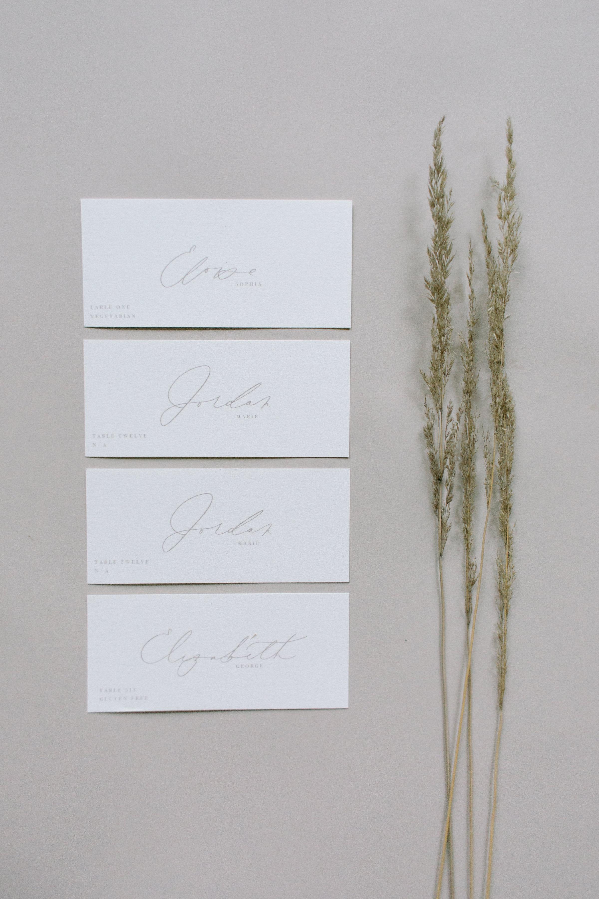 ESCORT CARDS -