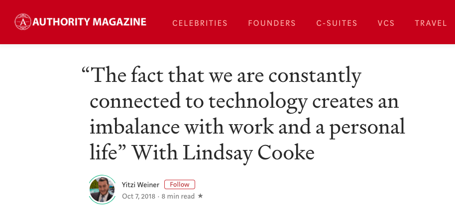 How Technology Creates An Imbalance - October, 2018