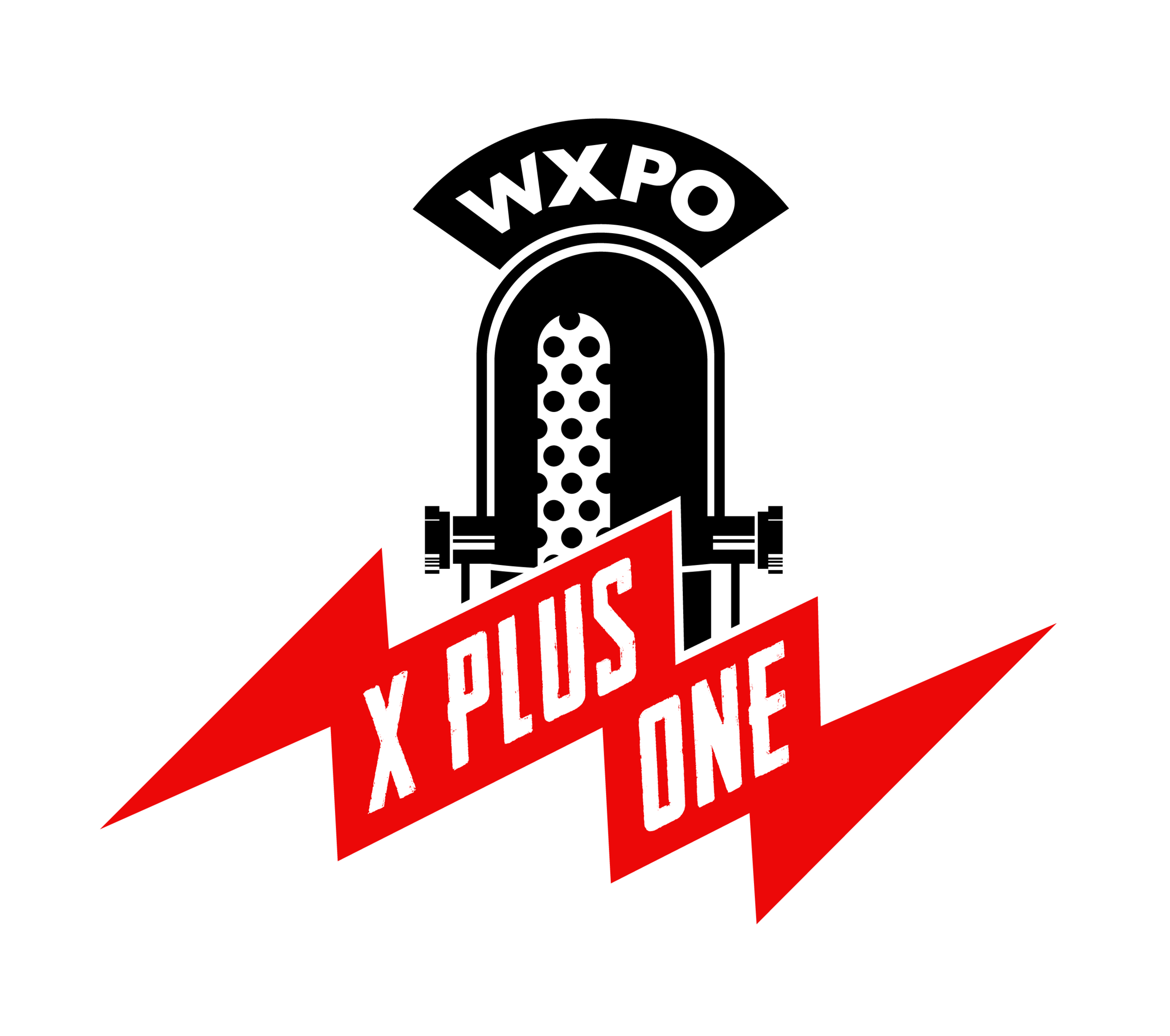 The X Plus One logo courtesy ofdesigner extraordinaire Aaron Webber -