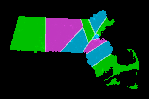 Massachusetts Electoral Districts (2009 Census info.)