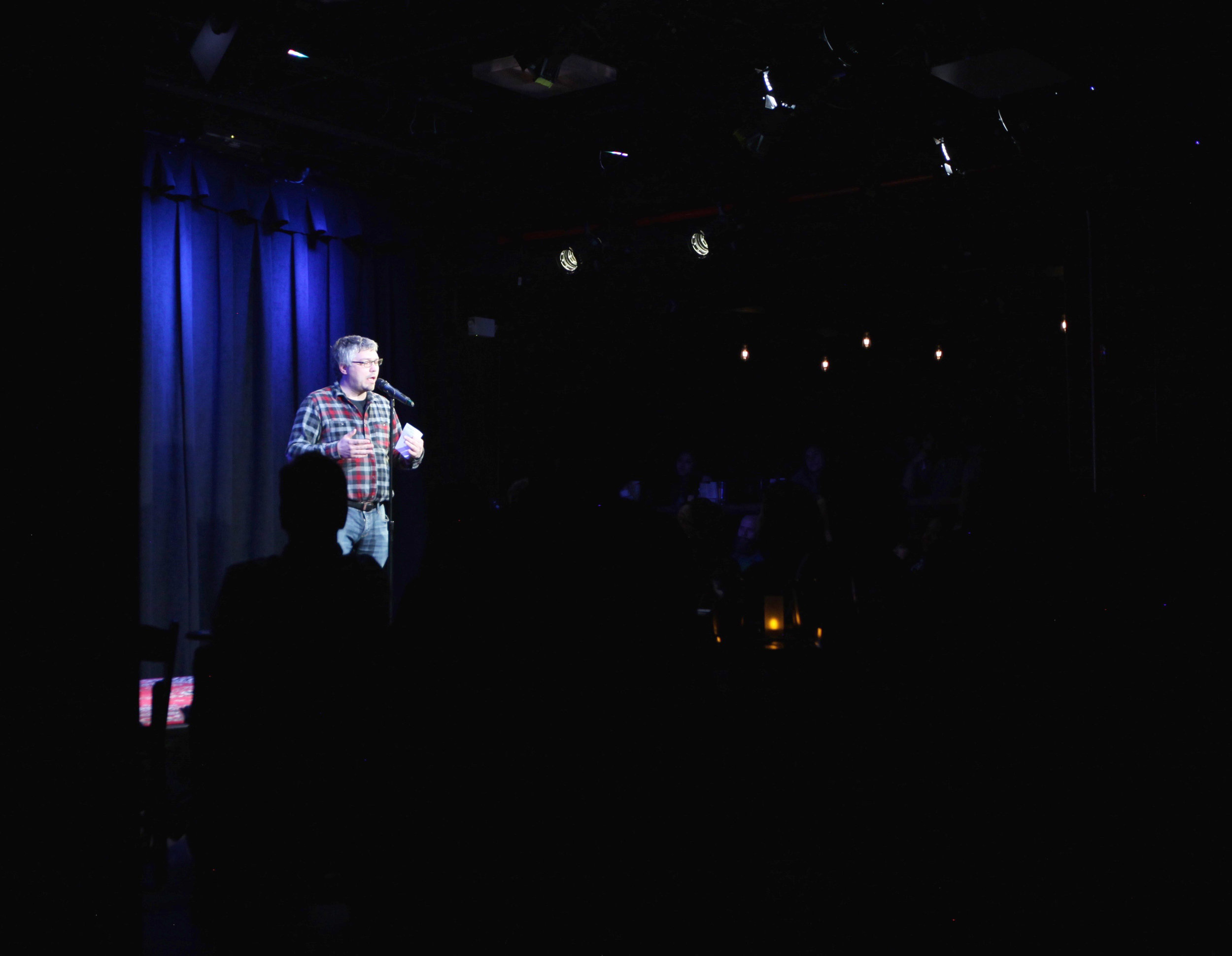 Ben Lillie, Co-founder of the Story Collider, performing