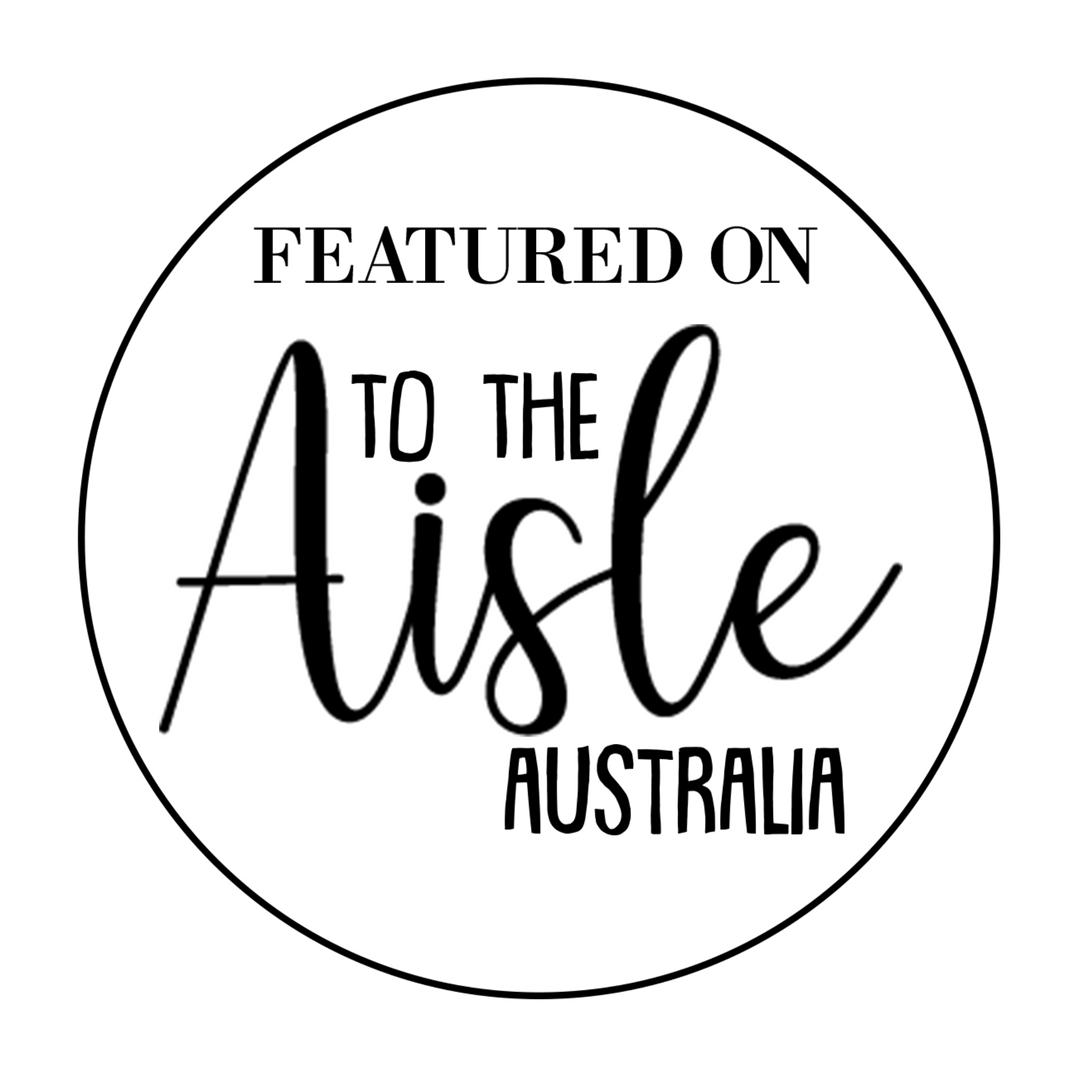 Congrats on your feature with To the Aisle Australia black on white (002).png