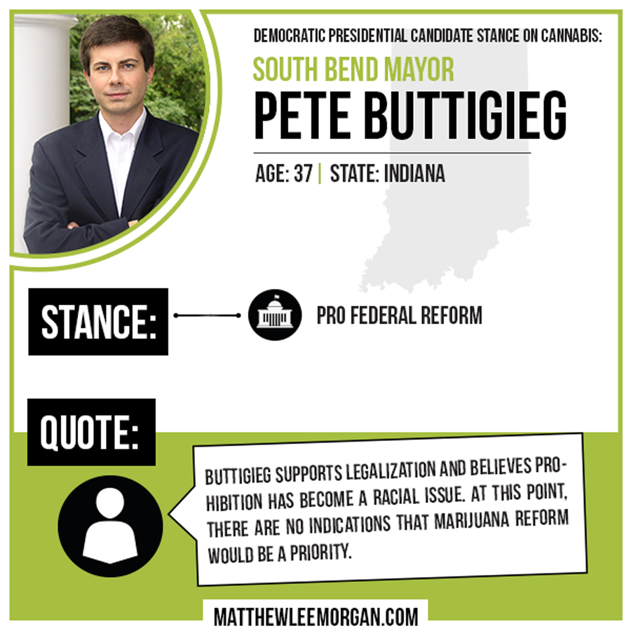 Pete Buttigieg Cannabis Infographic