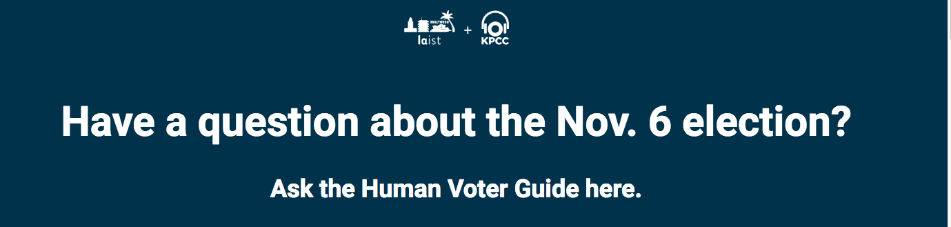 A screen grab from the Human Voter Guide  page on the station website .