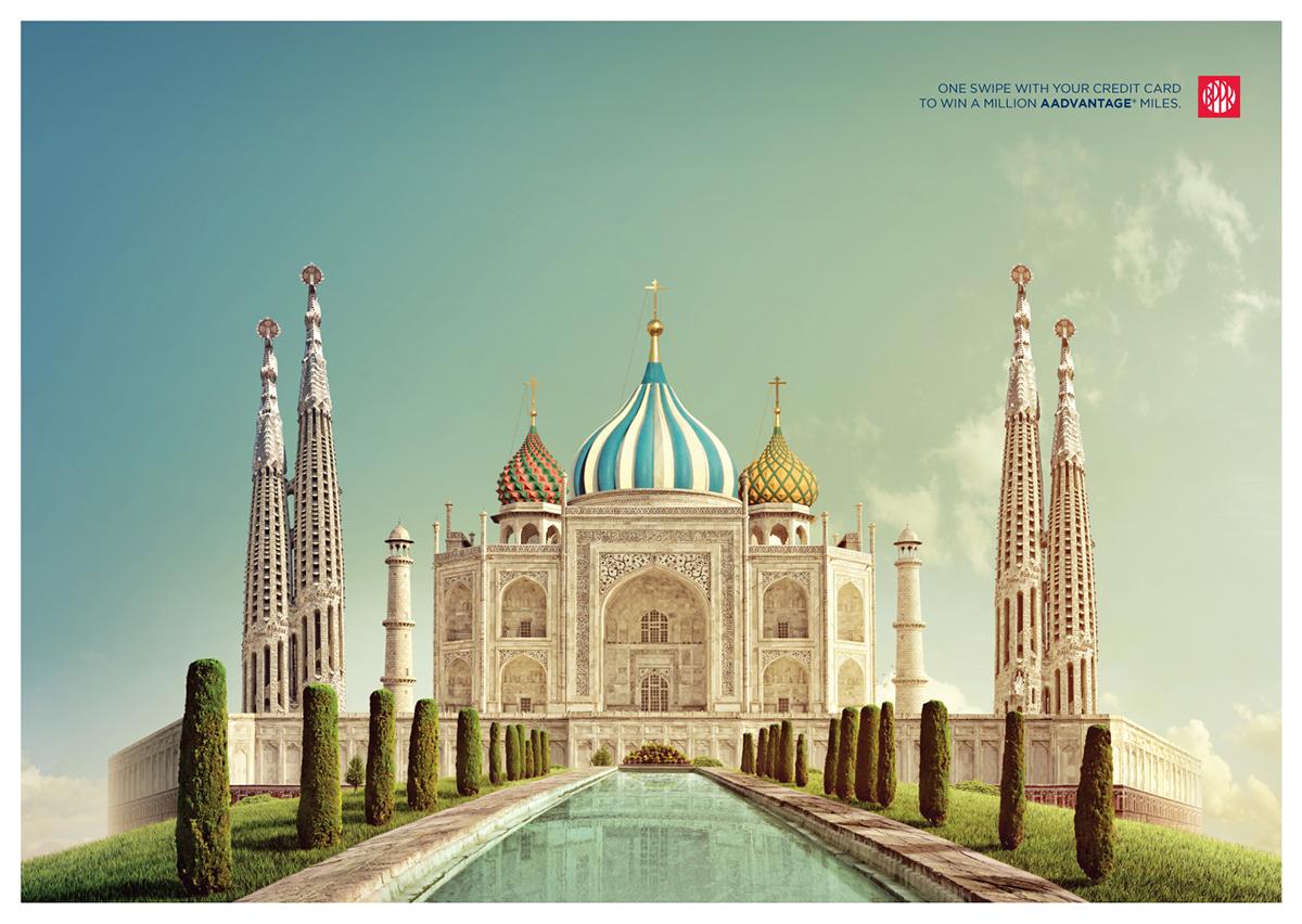 Saint Basil's Cathedral • Taj Mahal • Sagrada Familia