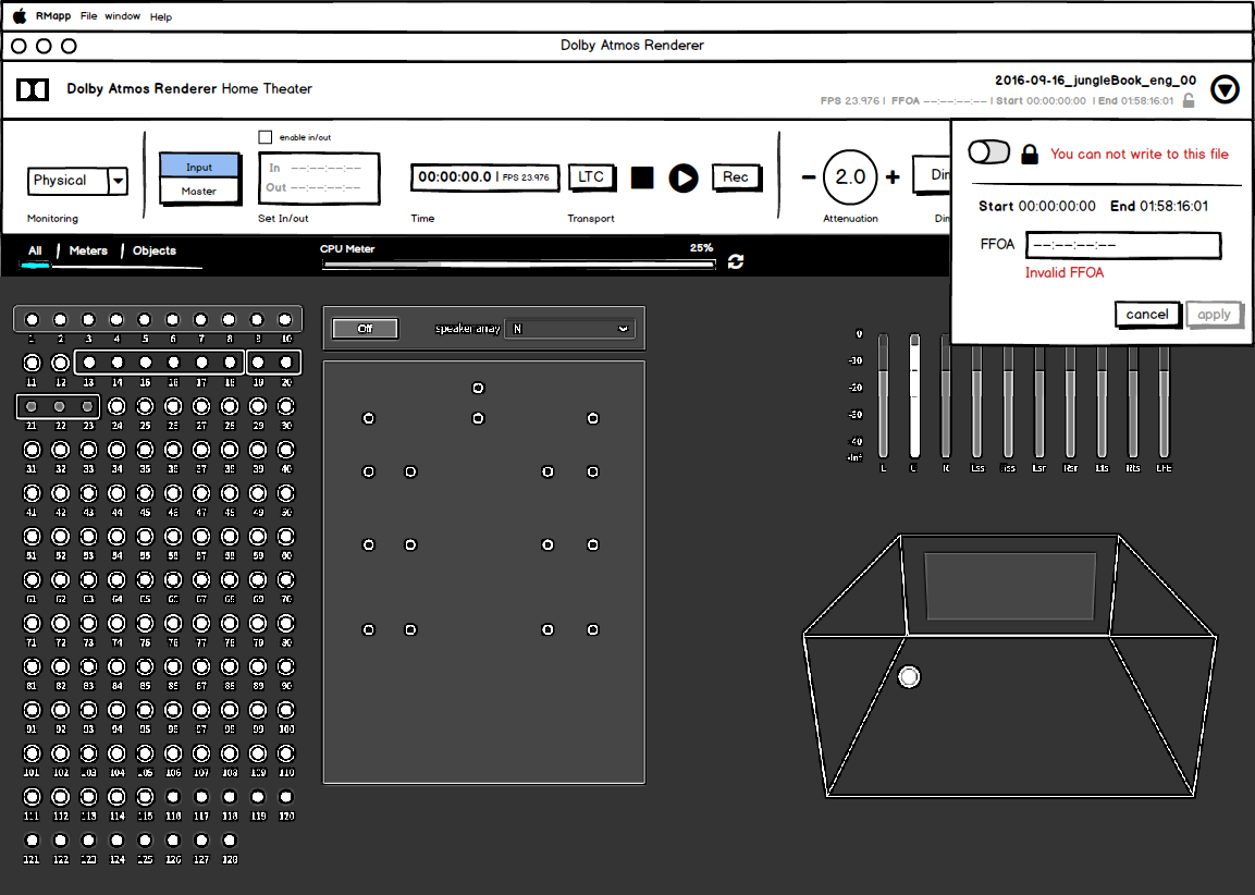 Wireframe post merging RMU and Monitor App