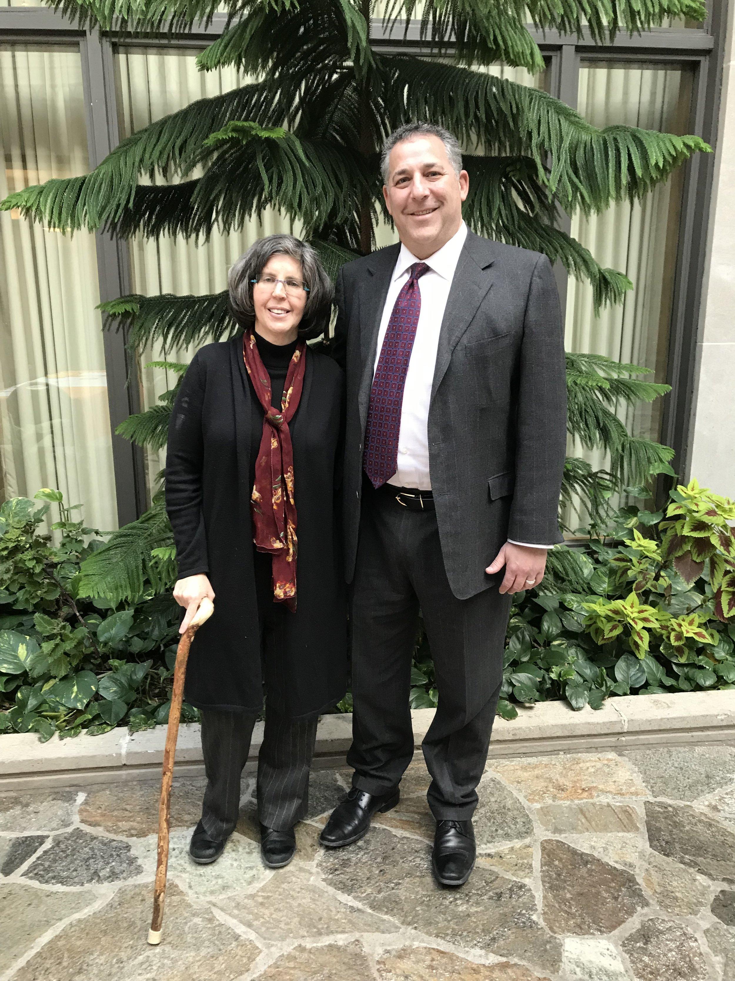 Rabbi Sandra Cohen and Rabbi Aaron Bisno