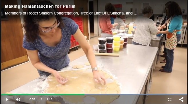 Click here to view the video from the March 13 Hamantaschen Making Workshop.