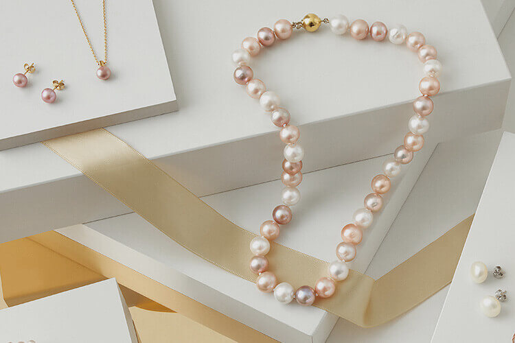 Pearl necklaces -