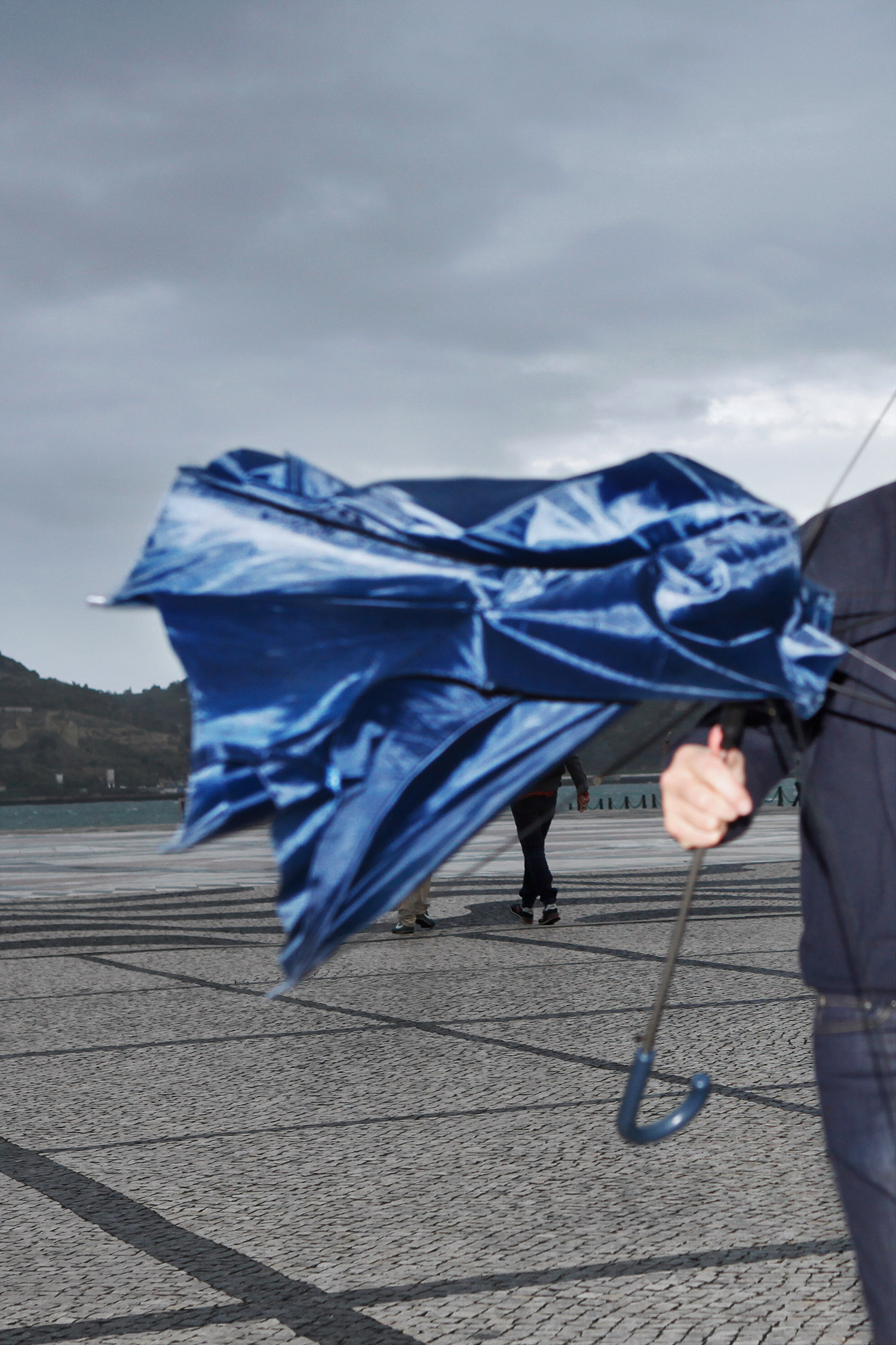 Justine Guerriat Microcosm series Blue Umbrella