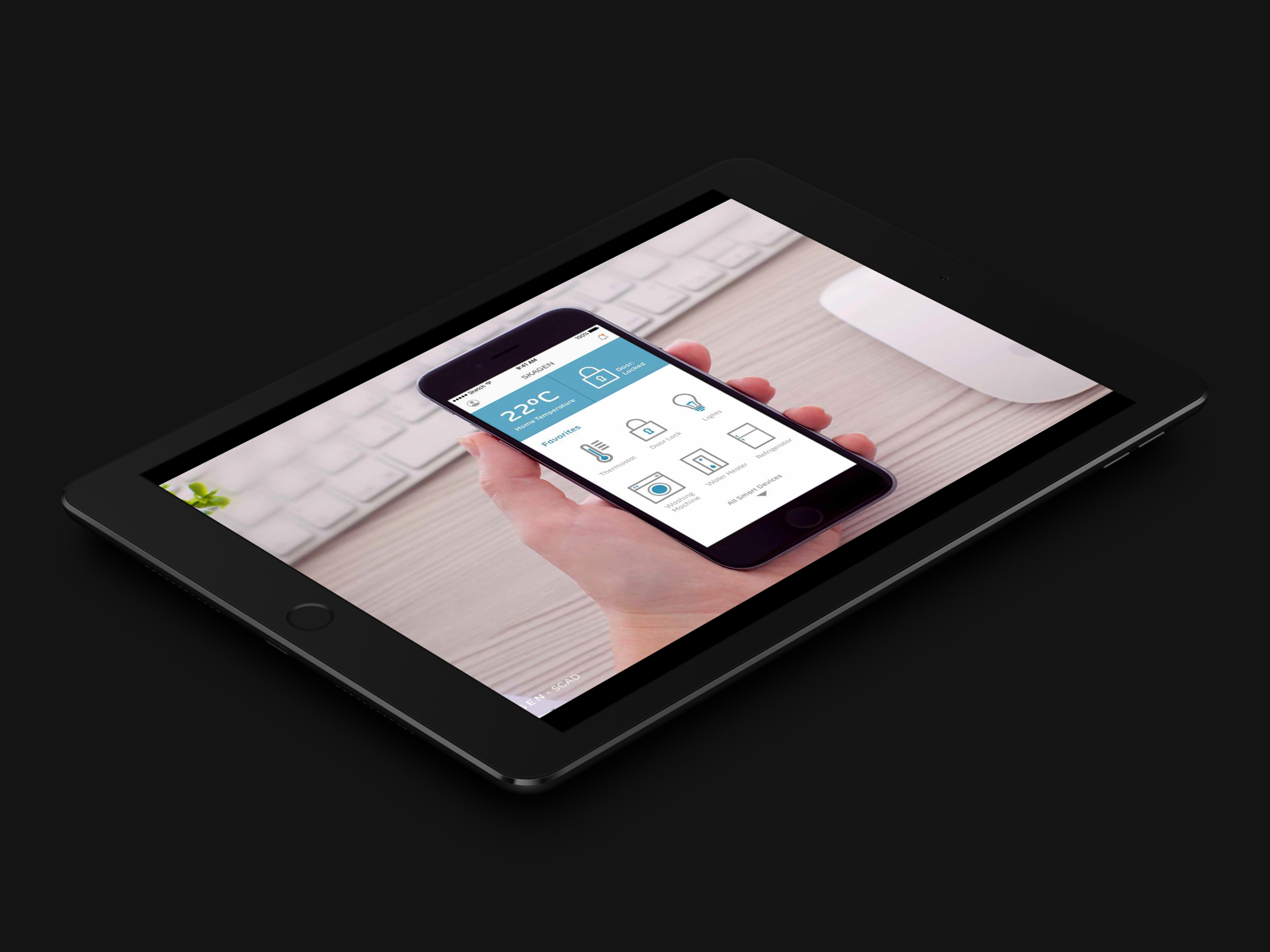 - Example of an interface development designed for the wearer of the accessory it is placed in.