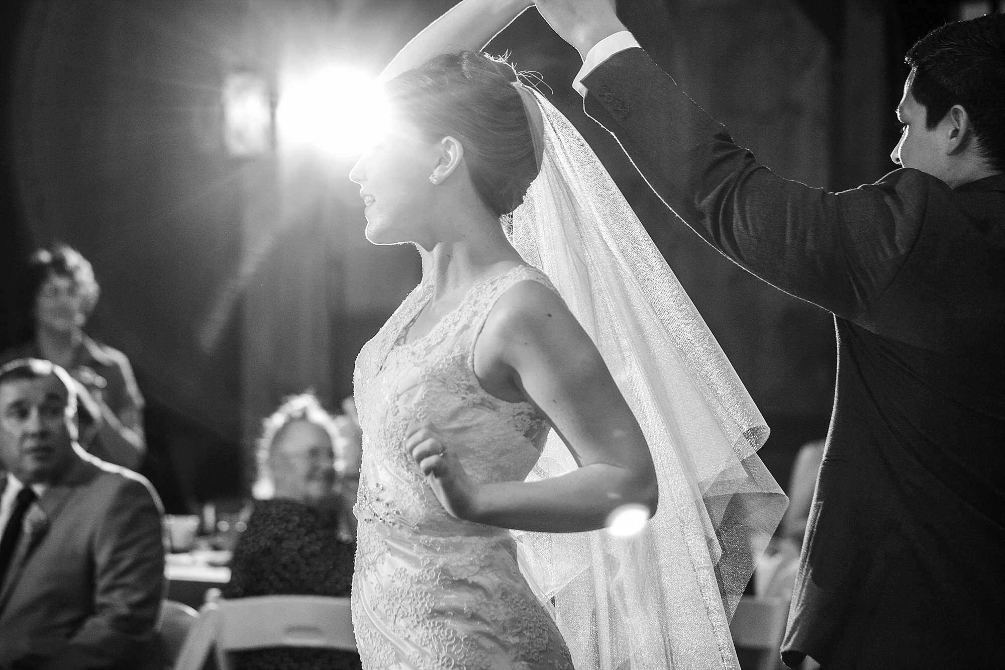 Bride and Groom's First Dance Wedding Reception Wedding Photography in Springfield, Branson and Kansas City Missouri, Fayetteville, Bentonville and Northwest Arkansas