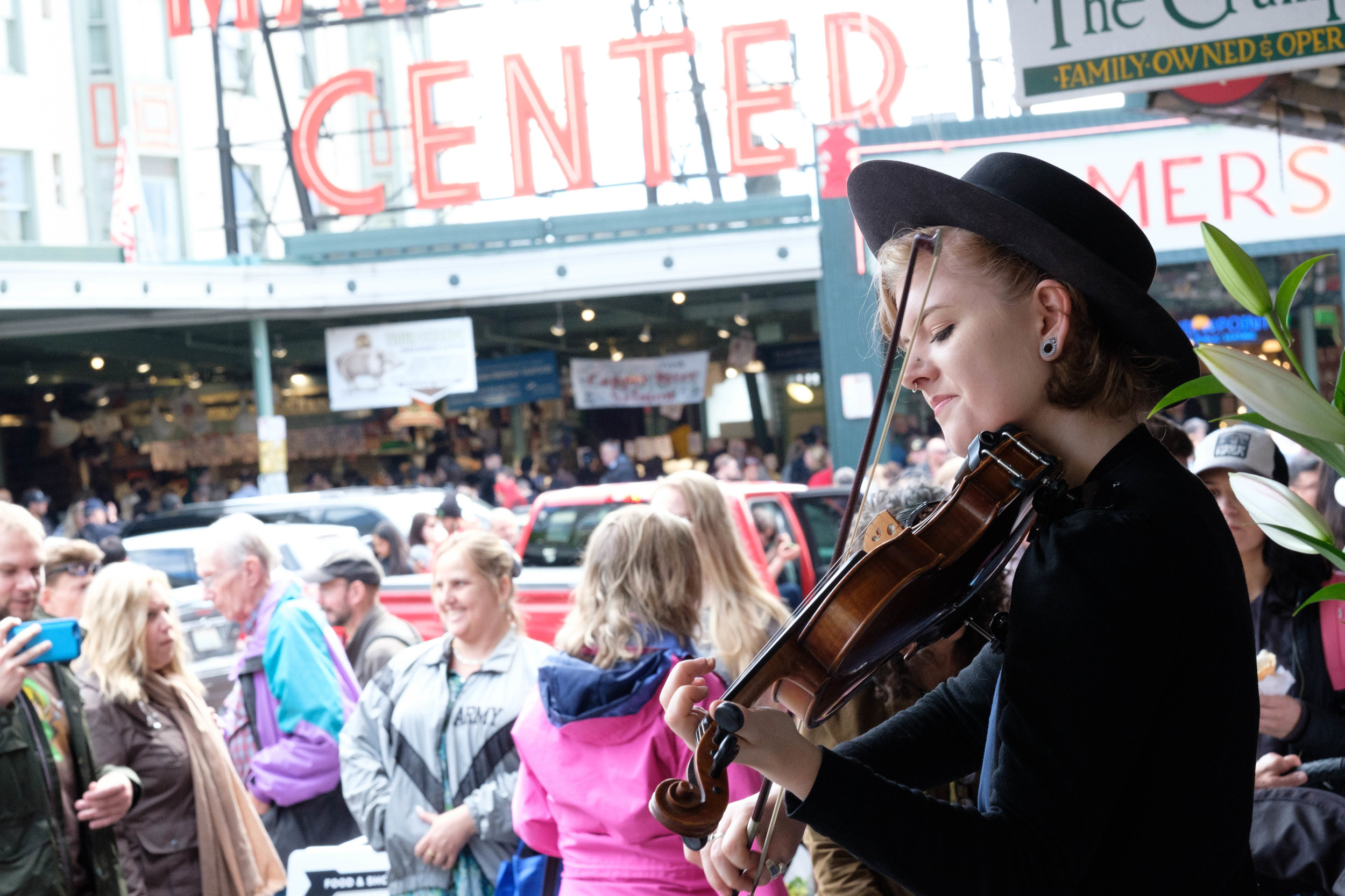 Faith Grossnicklaus at Pike Place Market.