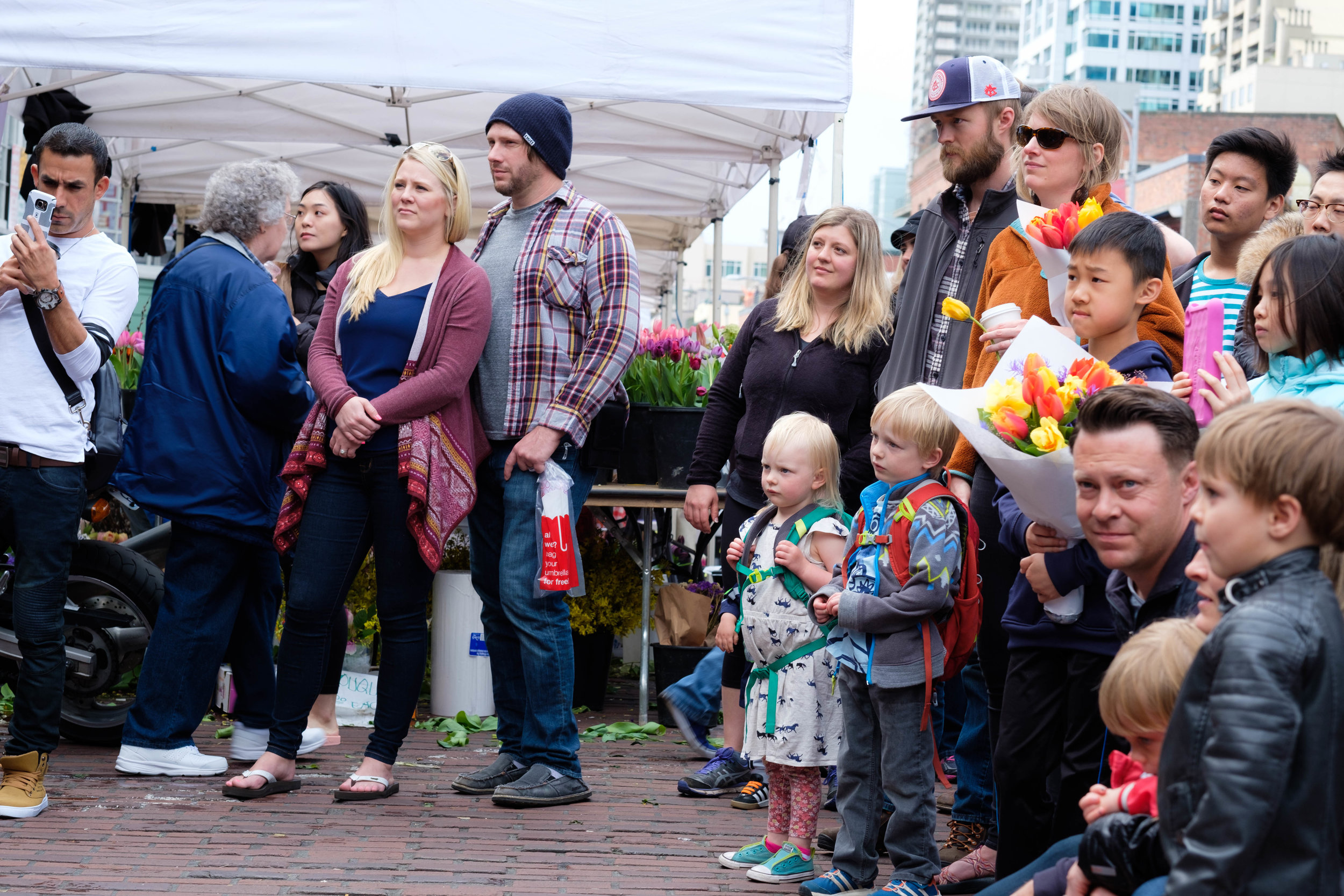 Patrons of the arts, Pike Place Market, Seattle.