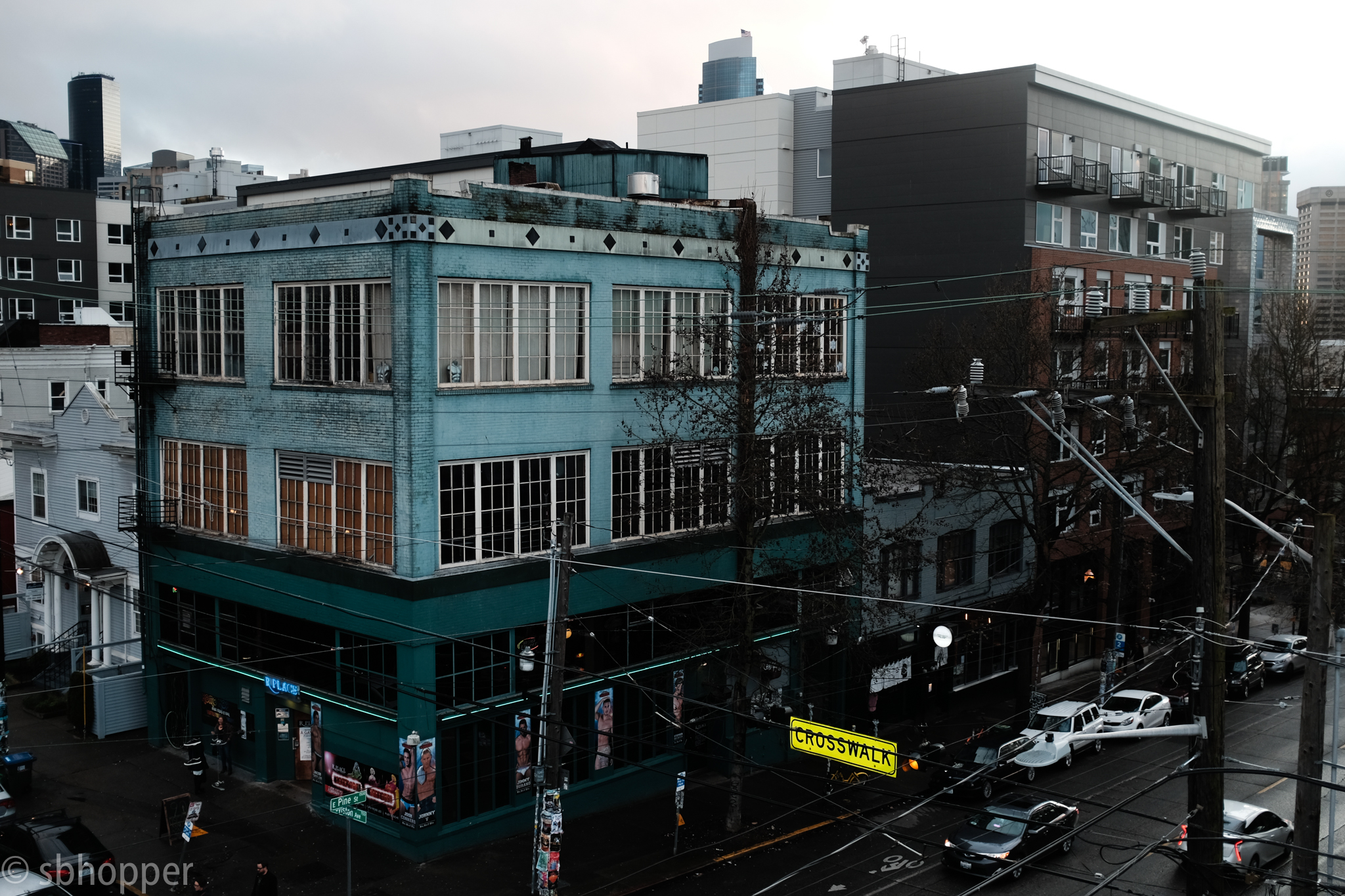 Capitol Hill, Seattle, March 2018. (This intersection and its buildings helped me learn a few new things about Lightroom. If I have the time I want to post some quick thoughts on that.)