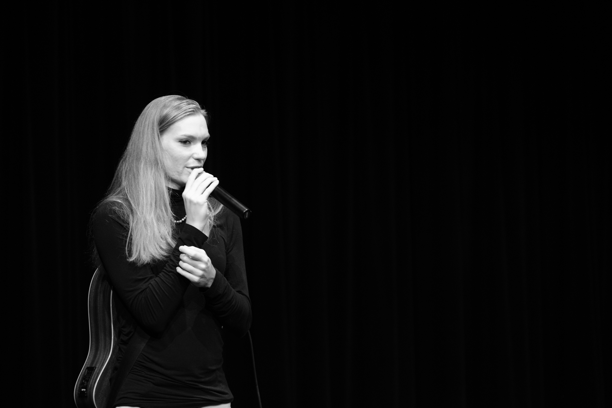 Claire Michelle at A Night For Women's Rights, Northwest School, Seattle, 10 June 2018.