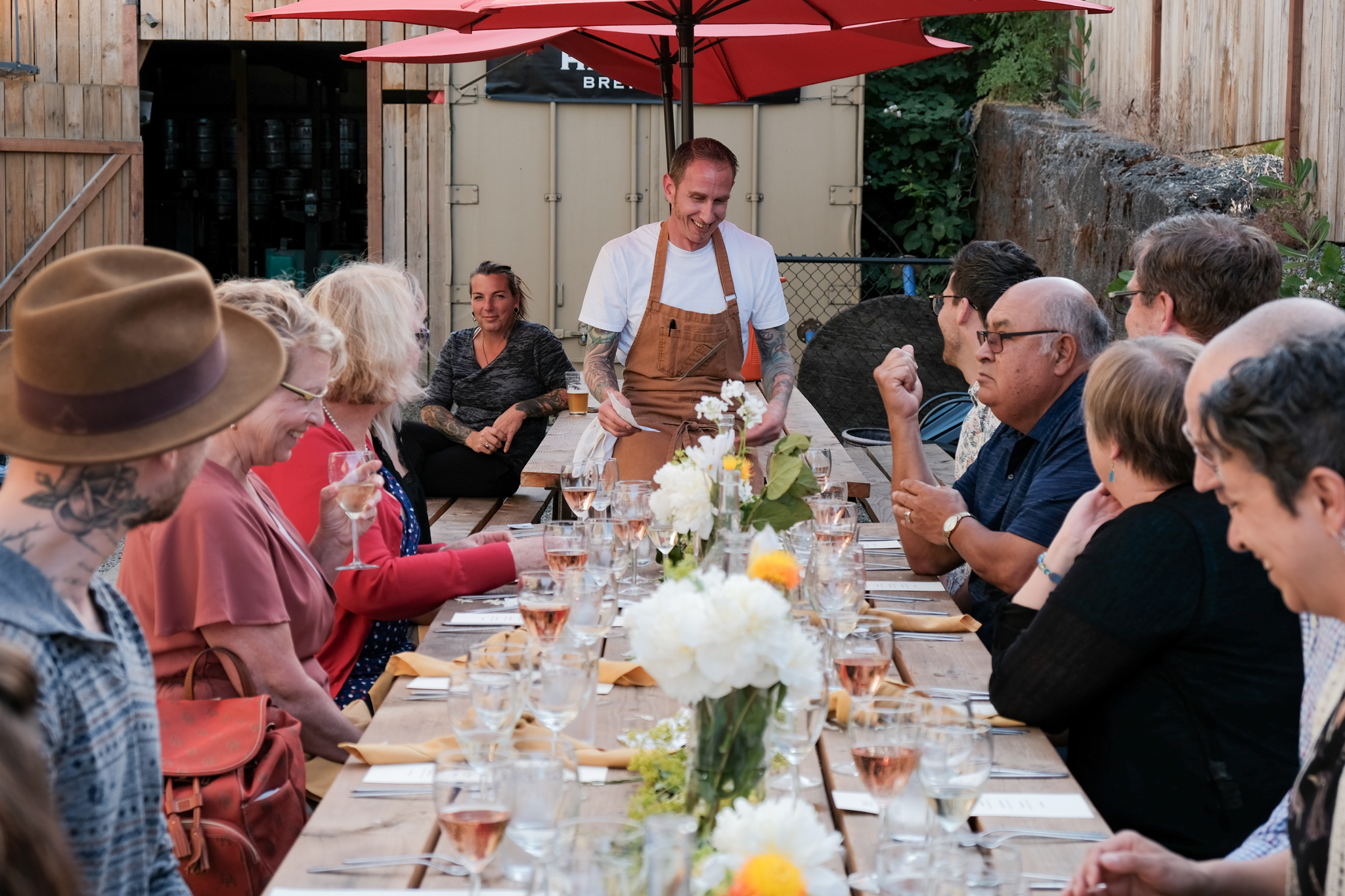 Chef Jon Maley and his guests, ChūcH Restaurant pop up event, 10 June 2015.